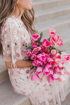 New Dress Floral Pink Fashion Styles Ideas Pretty In Pink, Beautiful Flowers, Needle And Thread Dresses, Merricks Art, Most Beautiful Dresses, Le Jolie, Jolie Photo, Pink Fashion, Dress Fashion