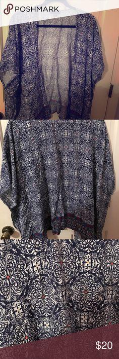 Selling this Torrid Patterned Kimono on Poshmark! My username is: jroberts216. #shopmycloset #poshmark #fashion #shopping #style #forsale #torrid #Tops