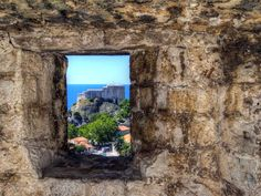 Dubrovnik Castle viewed from Old City wall.
