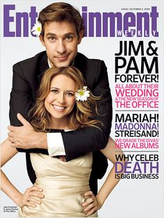 jim and pam-- it's like pb and j, they go so well together. pam beasley and jim.... ugh what a waste