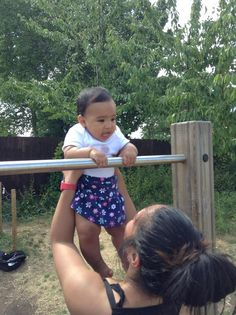 Start them working the muscle up when they're young!