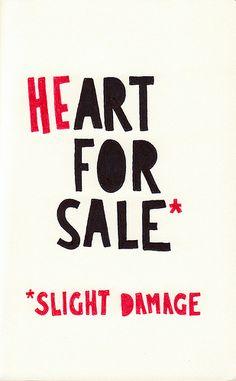 *Heart For Sale*  {slightly damaged}