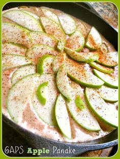 Apple Skillet Pancake~mygutsy.com (try subbing something for eggs)
