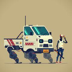 "yamamu on Twitter: ""Farmer:D #robot #mecha #illustration #marchofrobots2018… """
