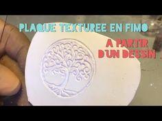 #2 - Fimo : Faire Une Plaque Texturée À Partir D'un Dessin - YouTube Polymer Clay Pendant, Fimo Clay, Cane Fimo, Video Fimo, Clay Texture, Micro Macrame, Tampons, Clay Tutorials, Wood Blocks