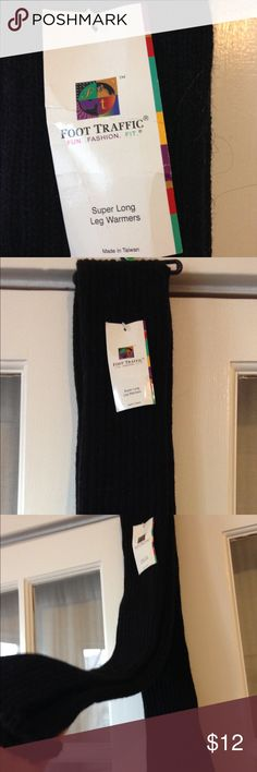 """Super Long Black Leg warmers 39"""" Open on both ends; stretchy; approximately 39"""" long; nwt; Imported; Acrylic; One Size (5' 0"""" - 5' 8"""" 100-160 lbs.) Great Cable Knit 80% Acrylic, 20% Nylon Foot Traffic Accessories Hosiery & Socks"""