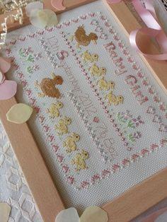 Mummy Ducks cross stitch kit from the Maggie Gee Needlework Studio on Facebook