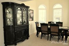 Black furniture dining room