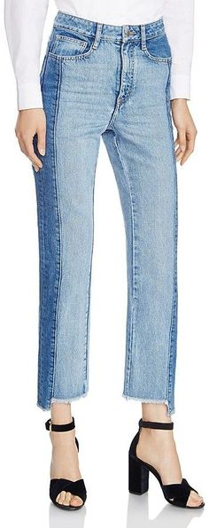 Maje Packy Two-Tone Faded Jeans