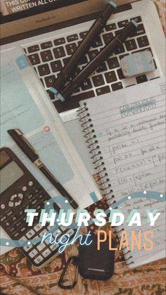 Thursday night plans - - Thursday night p