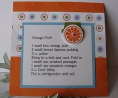 Orange Fluff recipe card
