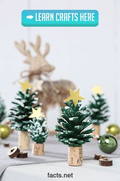 Crafts for Christmas, Advent, handicrafts with children, Christmas tree … – DIY craft – Christmas Crafts Cork Christmas Trees, Christmas Tree Crafts, Christmas Presents, Holiday Crafts, Xmas, Holiday Decor, Christmas Trivia, Advent Wreath, Winter Crafts For Kids