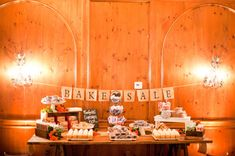 I love the Bake Sale Banner. Cute dessert table for a party Chic Wedding, Wedding Trends, Wedding Blog, Wedding Details, Wedding Decor, Wedding Ideas, Bake Sale Sign, For Sale Sign, Wedding Table Themes