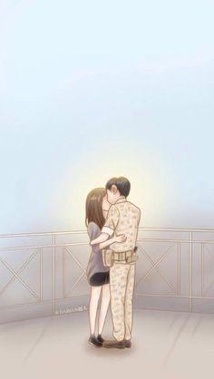Descendants of The Sun. Songsong Couple, Cute Couple Art, Anime Couples Manga, Cute Anime Couples, Korean Art, Korean Drama, Descendants Of The Sun Wallpaper, Song Hye Kyo Descendants Of The Sun, Decendants Of The Sun