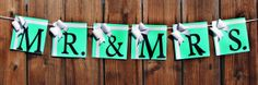 Baby & Co. Banner in Tiffany Mr. and Mrs. by CreatedforMe on Etsy, $25.00      Weddings     Decoration     tiffany blue     baptism     christening     banner     newborn     Wedding     Bridal     Bachelorette     sweet 16 sixteen     quinceanera     breafast at tiffanys     mr and mrs     mr mrs