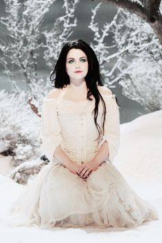 Amy Lee of Evanescence on the Lithium video. I'm actually listen to this song right now lol.