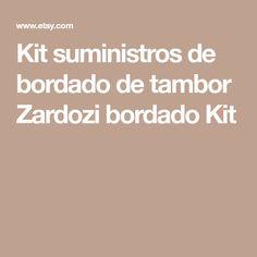 Kit suministros de bordado de tambor Zardozi bordado Kit