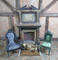 Doll House 1 12 Patricia Paul's Spooky Skull Gargoyle Chair OOAK IGMA Last One | eBay