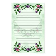 Paper note print Papier à lettre à imprimer !!