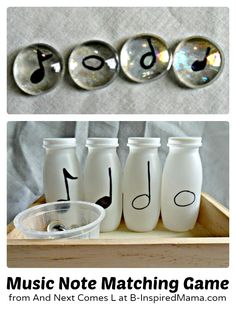A #DIY Music Note Sorting Game for #Kids
