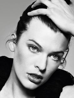 [Milla Jovovich- because people sometimes say that I resemble her]