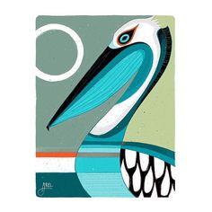Art Portfolio: Browse through over 600 works of art by Oregon artist Erik Abel. Ocean Art, Animal Art, Tiki faces, Works on paper, Surf Art and digital illustrations. Tribal Art, Geometric Art, Kunst Portfolio, Pelican Art, Bird Illustration, Illustrations, Surf Art, Ocean Art, Painting & Drawing