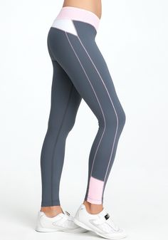 Colorblock Leggings - BEBE SPORT ONLINE EXCLUSIVE - Whether it's cycling or yoga class, there's no better way to break a sweat than in this super-comfy BEBE SPORT legging. Sport Online, Sports Leggings, Fitness Fashion, Color Blocking, Skinny Jeans, Comfy, Exercise, Fabric, Pants