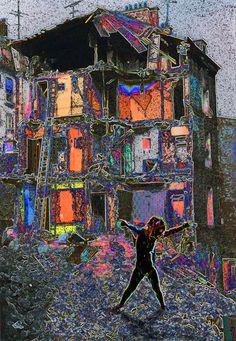 A découvrir au 1er Salon d'œuvres numériques en ligne sur www.myrankart.com  Daystruction by Clairann