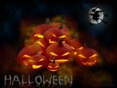 Halloween pompoenfamilie