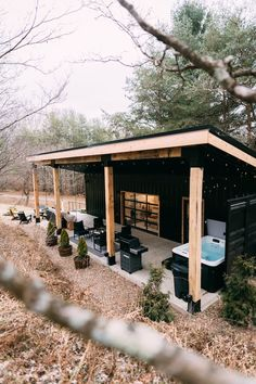 The Lily Pad - Hocking Hills- Shipping Container - Tiny houses for Rent in Logan, Ohio, United States - Modern Design Tiny House Cabin, Tiny House Living, Tiny House Plans, Tiny House Design, Modern Tiny House, Canoe House, Small Modern Cabin, Cottage House Designs, Tiny House Village
