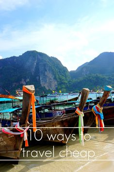 10 ways to TRAVEL CHEAP
