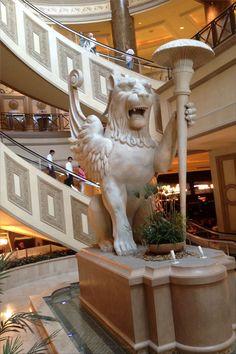 Inside Caesar Forum Shops next to Caesars Palace - round escalators - Las Vegas Boulevard - Las Vegas, Nevada, USA