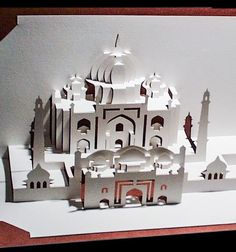 The Taj Mahal Pop-Up Paper Sculpture by Ingrid Siliakus is an intricate, elegant…