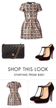 """Untitled #501"" by hillary-espinoza on Polyvore featuring RED Valentino, Christian Louboutin and Chanel"