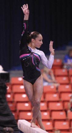 Jordyn Wieber at the 2011 Covergirl Classic in a GK Petal Design Competition leo