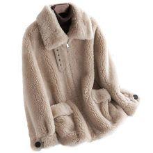 Online Shop Kadin 2019 Sonbahar Kis 100 Gercek Koyun Shearling Ceketler Kadin Hakiki Kuzu Kurk Palto Bayan Rahat Sicak Yu 2020 Manto Kadin Paltolari Sonbahar Kis