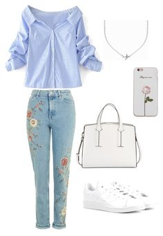 """""""#8"""" by chavelles on Polyvore featuring WithChic, adidas Originals, French Connection and Minnie Grace"""