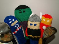 Knit Golf Club Covers Marvel... Pattern only