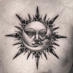 101 Amazing Sun Tattoo Ideas That Will Blow Your Mind! Luna Tattoo, Sun Tattoo Tribal, Sun Tattoo Small, Moon Sun Tattoo, Tribal Sun, Dark Tattoo, Sun Moon, Tattoo Sketches, Tattoo Drawings