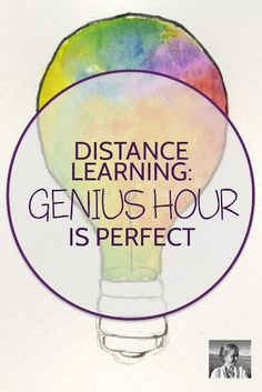 In a time of distance learning, encourage student creativity with this easy and flexible genius hour assignment. Give your kids the gift of pursuing one of their own dreams while they're stuck at home. Check out the blog post for information and a free assignment download. Teaching High Schools, Genius Hour, New Teachers, English Teachers, Instructional Coaching, Teaching Strategies, Teaching Ideas, Learn French, Student Motivation