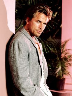 Don Johnson Miami Vice days  Who could ever forget Sonny Crockett