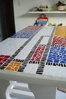 Piet Mondrian mosaic table