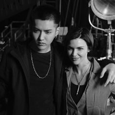 On set for with Kris Exo, Felix Stray Kids, Wu Yi Fan, Attack On Titan Anime, Korean Artist, Ruby Rose, Orange Is The New Black, On Set, Kpop