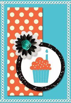 Mijn digiscraps: Cupcakekaart