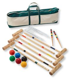 Maine Coast Croquet Set with Boat and Tote: Outdoor Games | Free Shipping at L.L.Bean