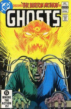 Horror Comics : Ghosts April 1982 Cover Art by Joe Kubert Scary Comics, Horror Comics, Horror Art, Dc Comics, Dc Comic Books, Comic Book Artists, Comic Book Covers, Comic Artist, Joe Kubert