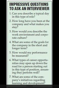 Questions to ask employer in an interview