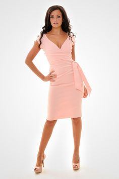 The blush pink Hourglass Vintage Wiggle Pencil Dress from @The Pretty Dress Company