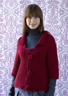 Crochet sweater pattern. I might be able to handle this one.