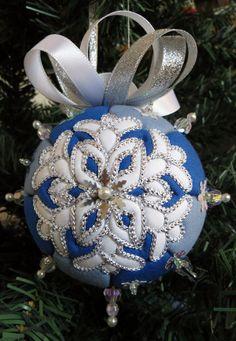Snowflake Kimekomi Christmas Ornament